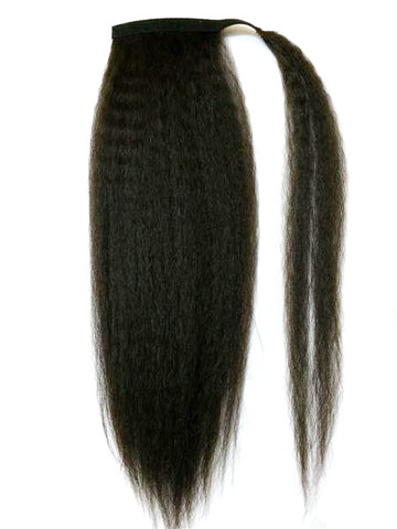 "Wrap Around 100% Human Hair Ponytail in Kinky Straight 18"" - Hairesthetic"