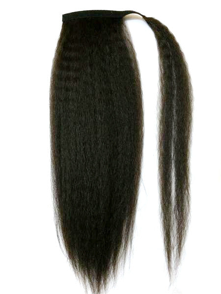 "Wrap Around 100% Human Hair Ponytail in Kinky Straight 22"" - Xtra Thick - Hairesthetic"