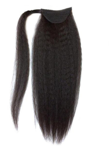 "Wrap Around 100% Human Hair Ponytail in Kinky Straight 18"" - Xtra Thick - Hairesthetic"