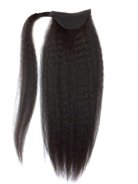 Wrap Around 100% Human Hair Ponytail in Kinky Straight 22""