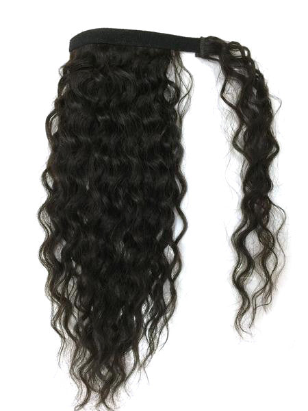 "Wrap Around 100% Human Hair Ponytail in Kinky Wave 22"" - Extra Thick- 180 Grams - Hairesthetic"