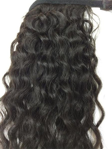 "Wrap Around 100% Human Hair Ponytail in Kinky Wave 12"" - Hairesthetic"