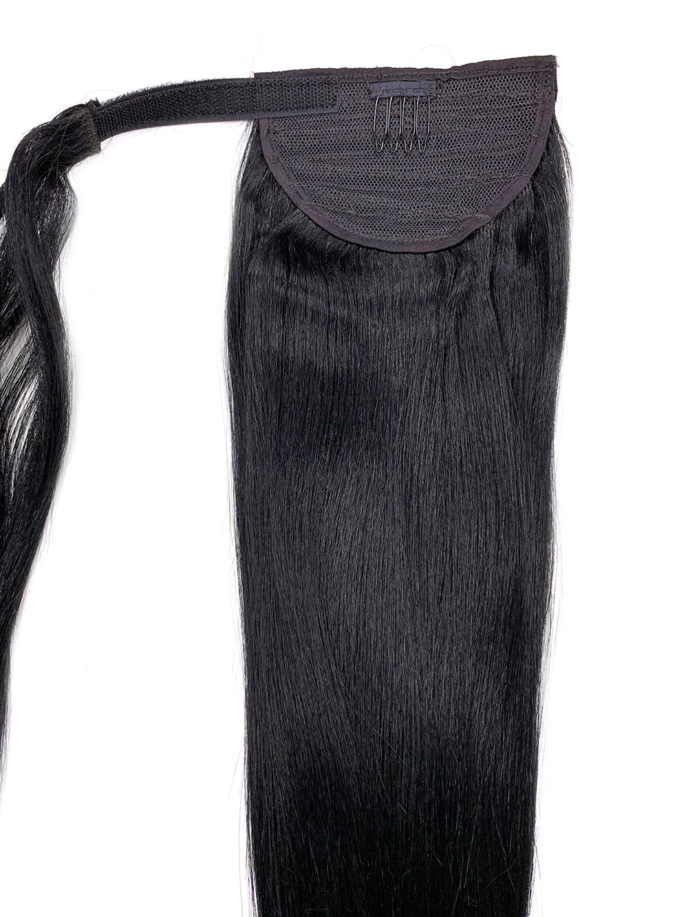 "Wrap Around 100% Human Hair Ponytail in Yaki Perm Straight 22"" - Hairesthetic"