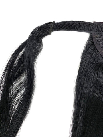 "Wrap Around 100% Human Hair Ponytail in Yaki Perm Straight 12"" - Hairesthetic"