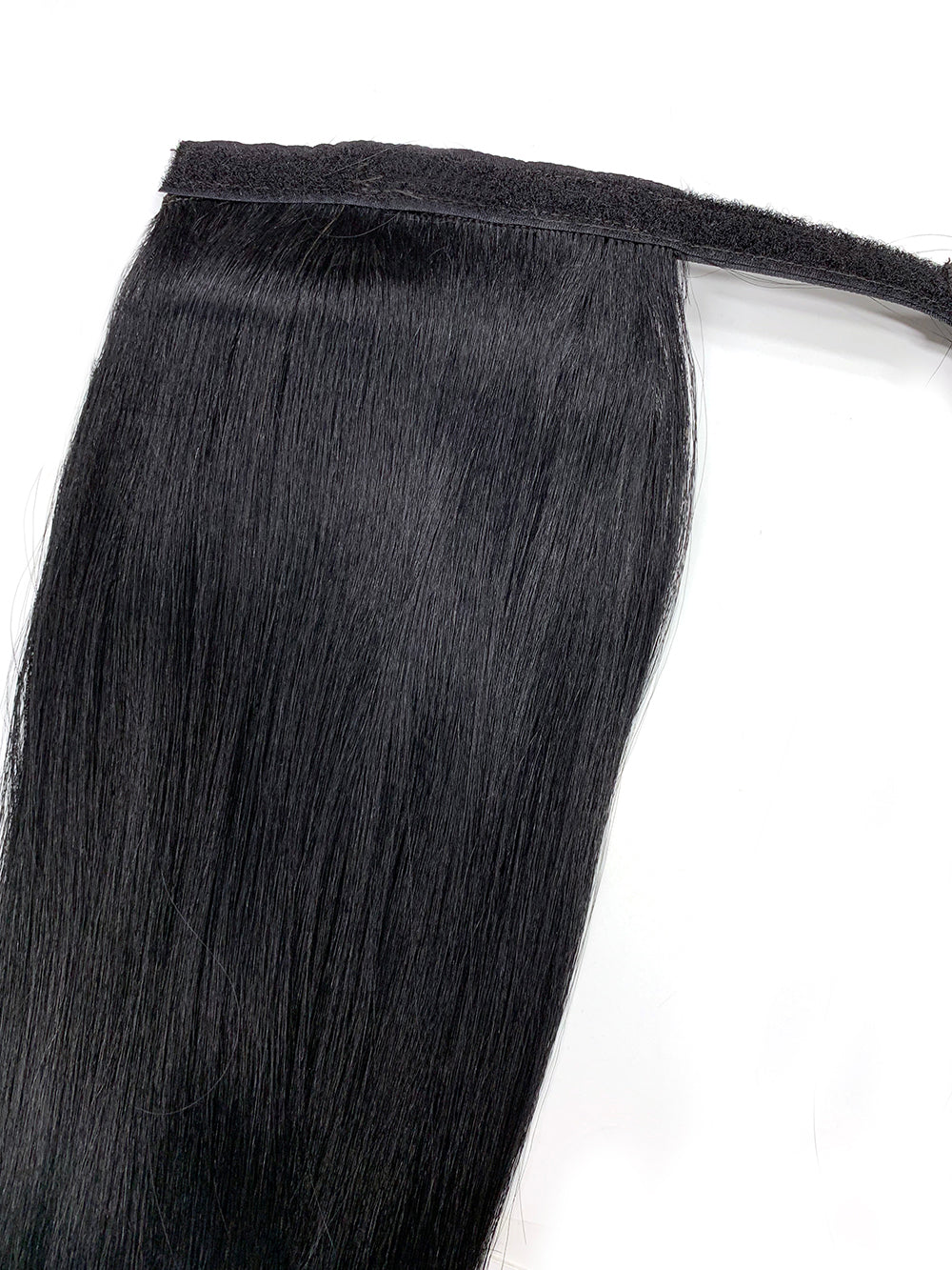 "Wrap Around 100% Human Hair Ponytail in Yaki Perm Straight 22"" - Xtra Thick - Hairesthetic"