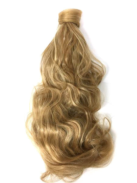 Wrap Around 100% Human Hair Ponytail Bodywave 22""
