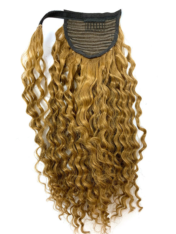 "Wrap Around 100% Human Hair Ponytail in Deep Wave 22"" - Hairesthetic"