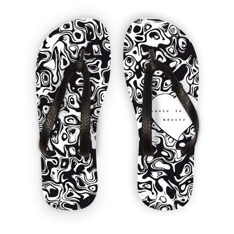 Music is the Answer Adult Flip Flops