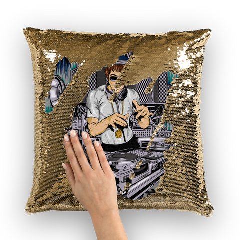 Underground Sound Sequin Cushion Cover