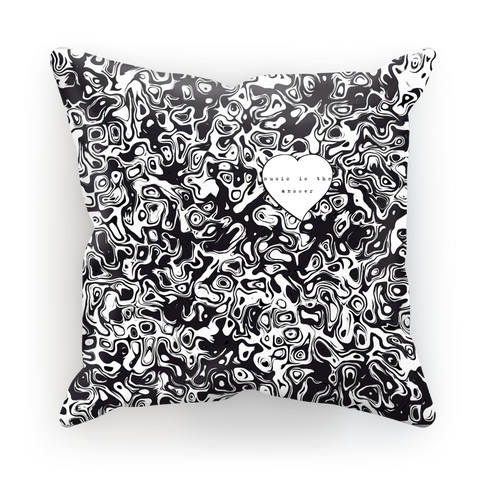 Music is the Answer Sublimation Cushion Cover