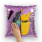 Music Expert Sequin Cushion Cover
