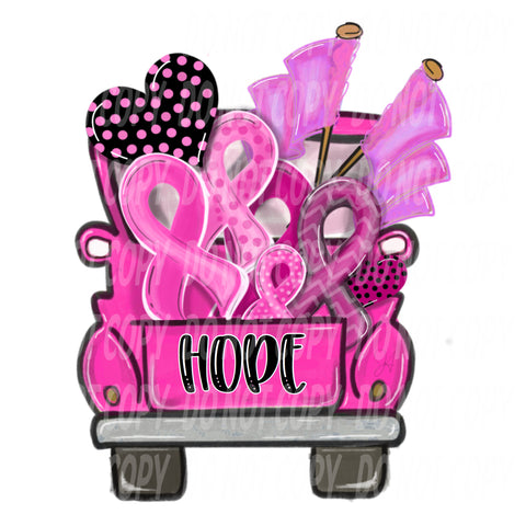 TR108 Pink Ribbon Hope Truck