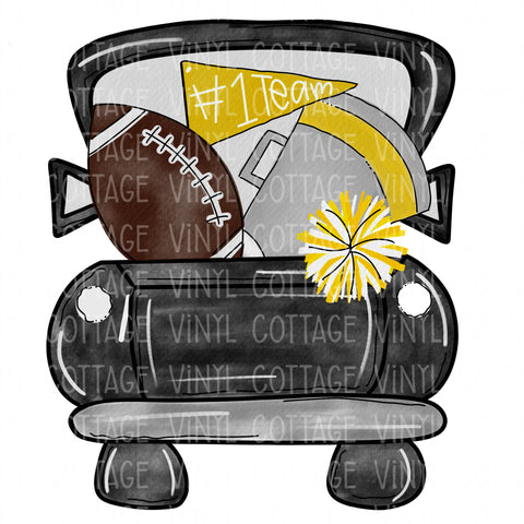 TR115 Black and Gold Football Truck