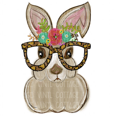 TR286 Bunny with Leopard Glasses
