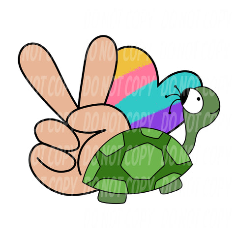 TR443 Peace Love Turtles