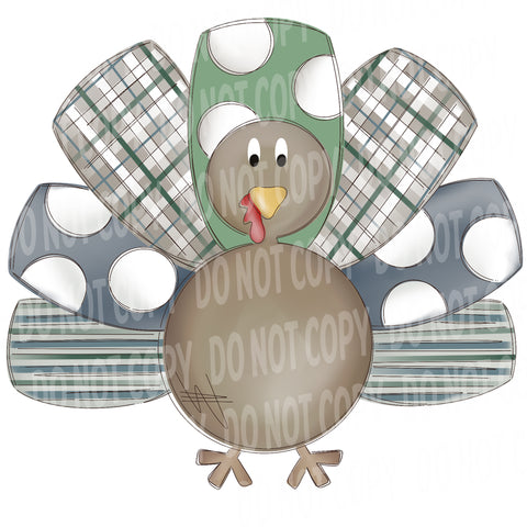 TR485 Boy Turkey with Pattern Feathers