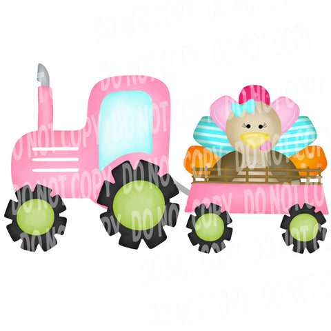 TR490 Pink Tractor with Turkey