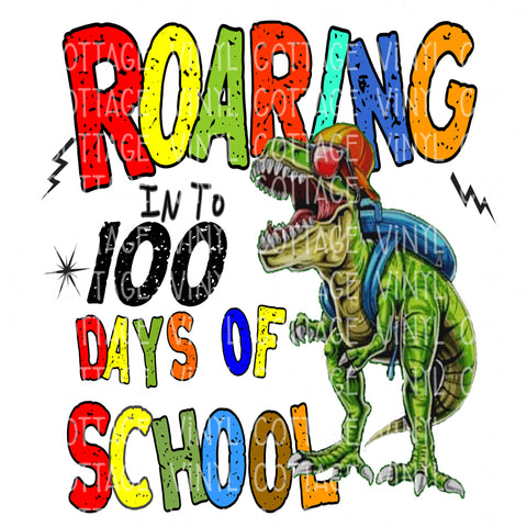 TR571 Roaring into 100 Days of School