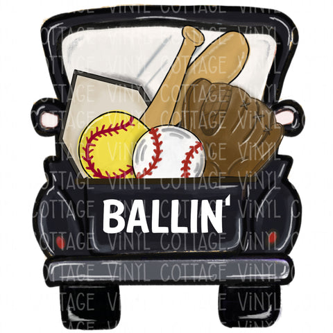 TR636 Ballin Baseball and Softball Black Truck