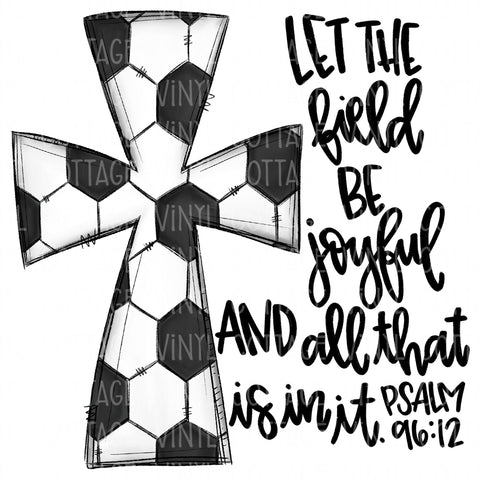 TR642 Soccer Cross with Bible Verse