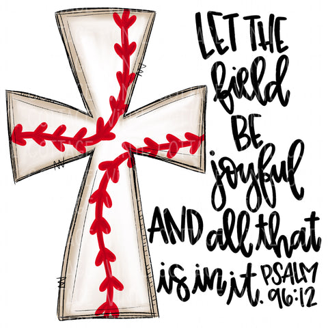 TR645 Baseball Cross with Bible Verse