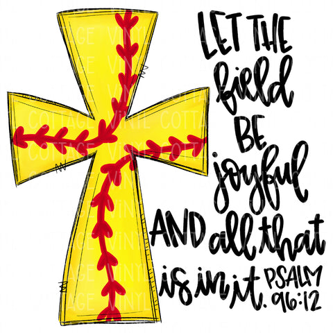 TR648 Softball Cross with Bible Verse