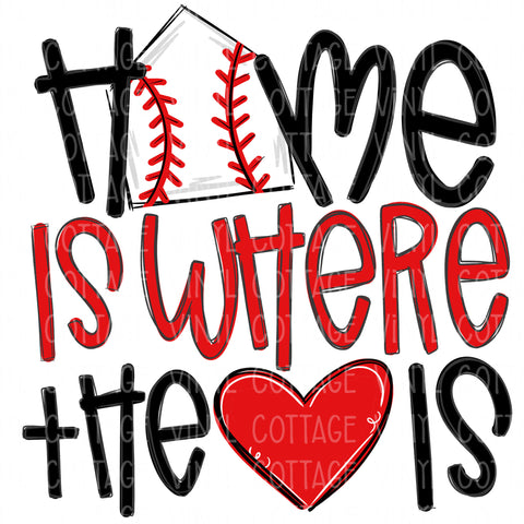 TR686 Home is Where the Heart Is Baseball