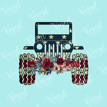 American Flag Jeep