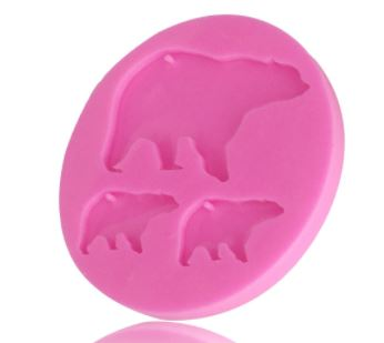 Bear Family Silicone Mold