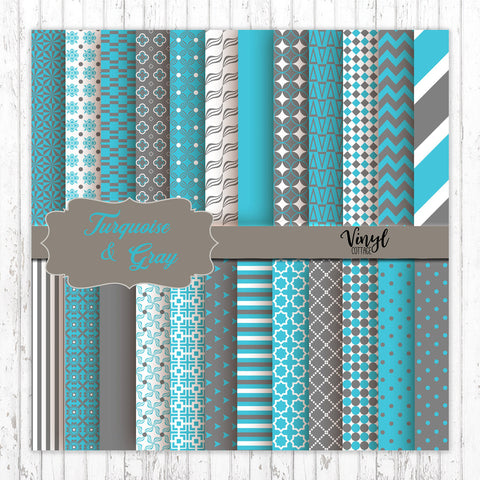 Turquoise and Gray Patterns