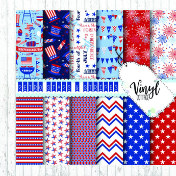 Patriotic Stars and Stripes