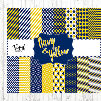 Navy and Yellow Patterns
