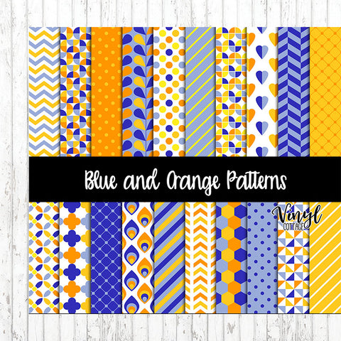 Blue and Orange Patterns