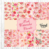 Pink Watercolor Florals