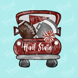 Hail State Tailgate Truck Mississippi Sub Transfer