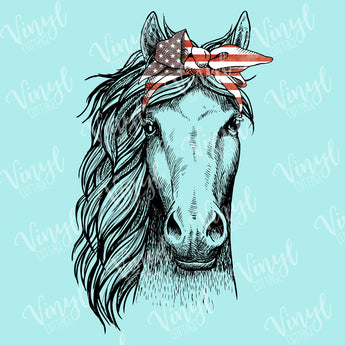 Horse with Flag Bandana