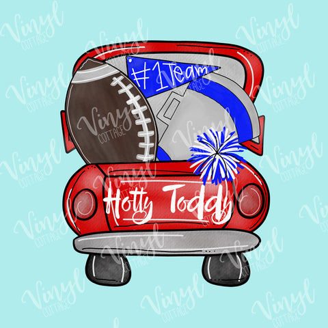 Hotty Toddy Tailgate Truck Mississippi HTV Transfer