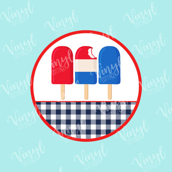 Patriotic Popsicle Frame