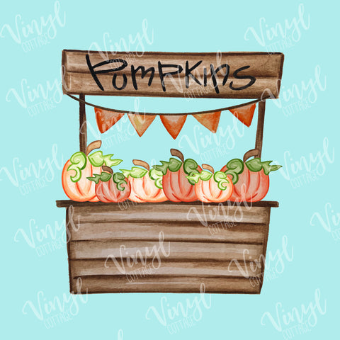 Pumpkin Stand Dye Press Transfer