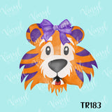 Purple Stripe Tiger HTV Transfer