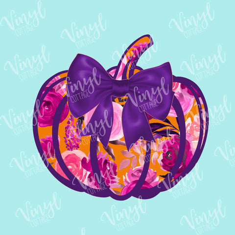 Pretty Purple Pumpkin HTV Transfer-TR117