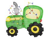 TR142 Christmas Tractor with Lights