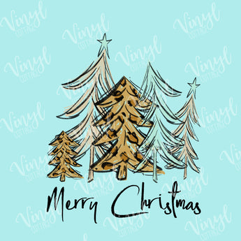 Whimsy Christmas Trees in Leopard Dye Press-TR177