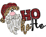 TR201 Ho Ho Ho Buffalo Plaid Santa