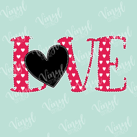 Love Heart with Stitches Dye Press-TR222