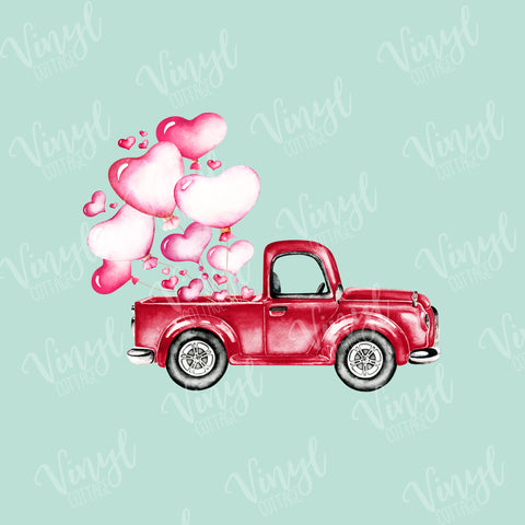 Valentine Heart Balloons in Vintage Truck Dye Press-TR230