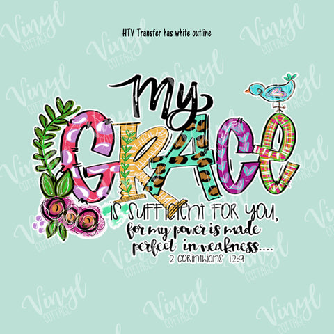My Grace is Sufficient HTV Transfer-TR251