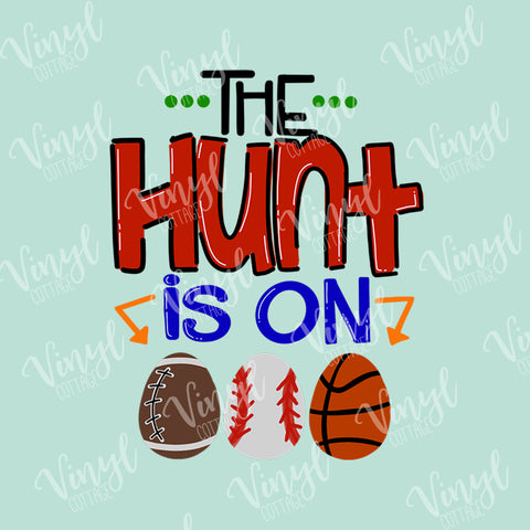 Easter The Hunt is On HTV Transfer-TR258