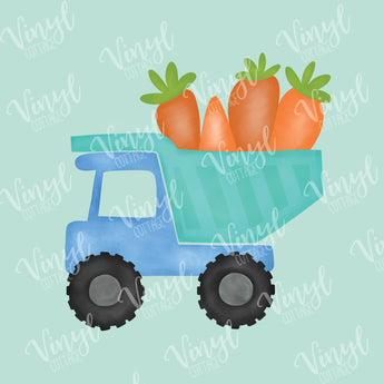 Watercolor Easter Dump Truck with Carrots HTV Transfer-TR261