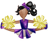 TR430 Purple and Gold Cheerleader African American
